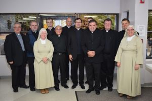 Priests and religious at Corpus Christi to celebrate Fr. Mark's Jubilee.
